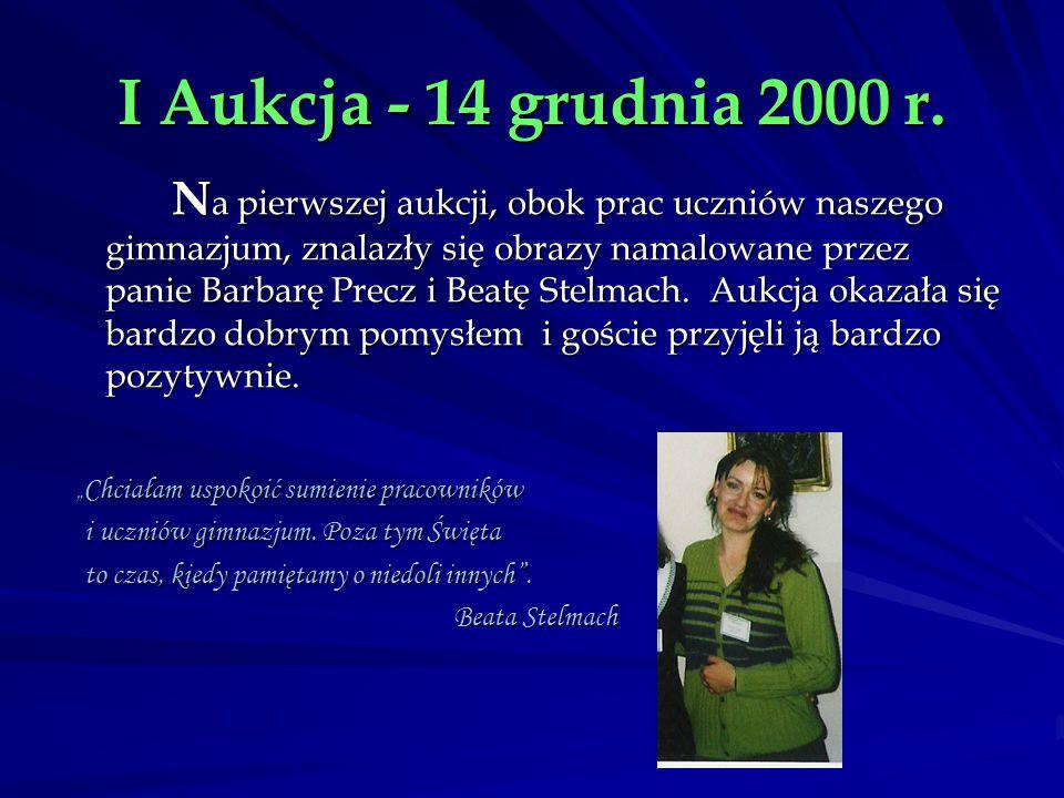 I Aukcja - 14 grudnia 2000 r.