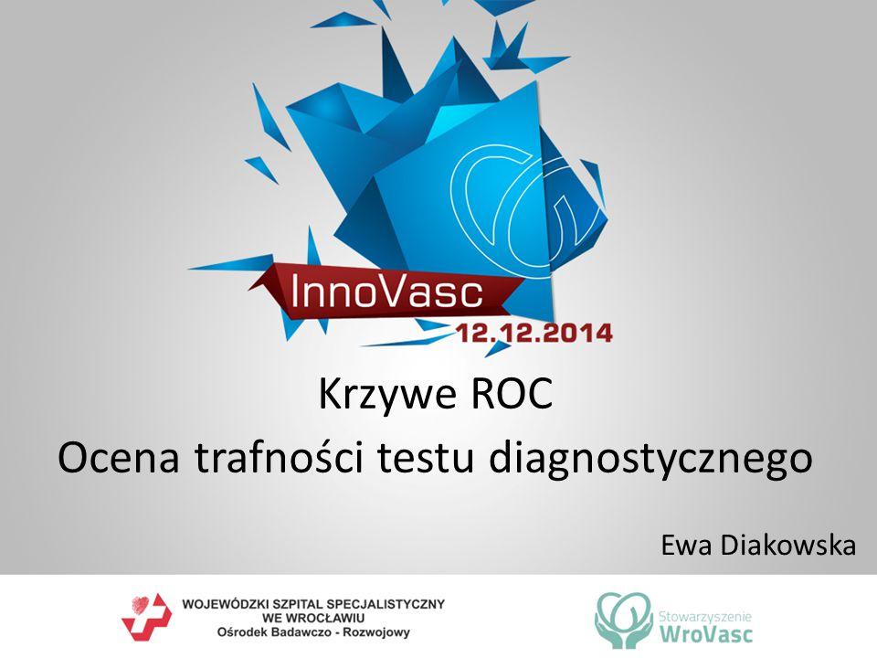 Krzywe ROC Ocena trafności testu diagnostycznego
