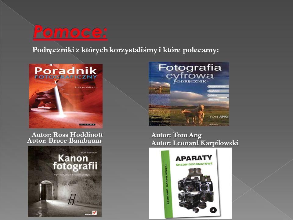 Pomoce: Podręczniki z których korzystaliśmy i które polecamy: