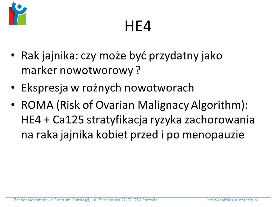 HE4 Rak jajnika: czy może być przydatny jako marker nowotworowy