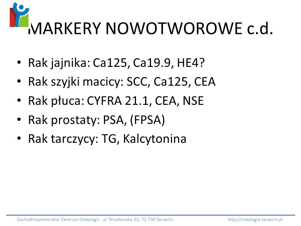MARKERY NOWOTWOROWE c.d.