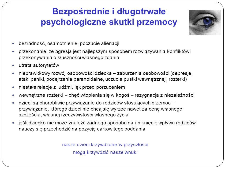 Bezpośrednie i długotrwałe psychologiczne skutki przemocy
