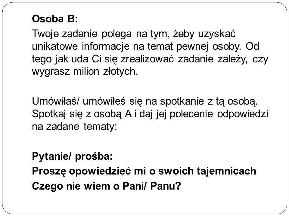 Osoba B: