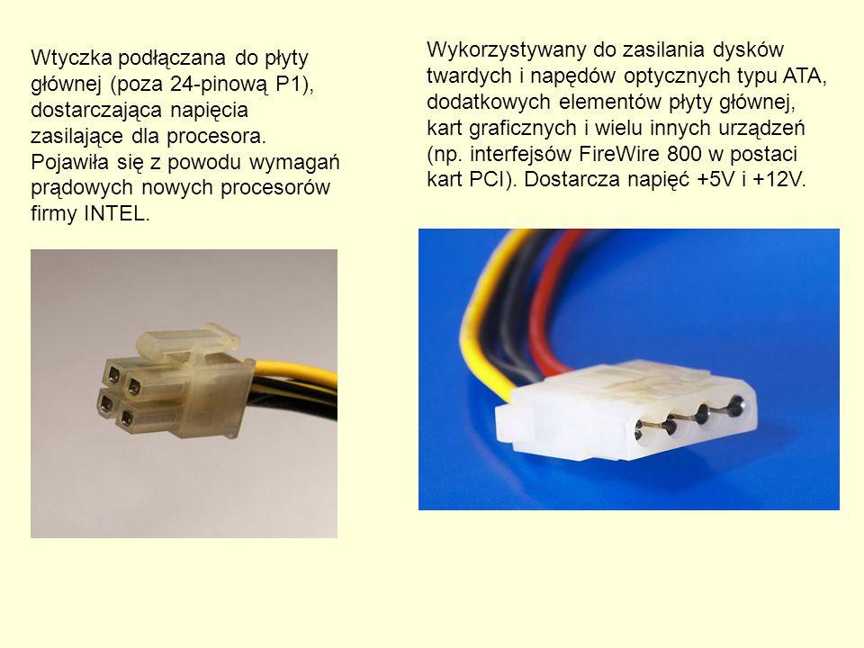 Wykorzystywany do zasilania dysków twardych i napędów optycznych typu ATA, dodatkowych elementów płyty głównej, kart graficznych i wielu innych urządzeń (np. interfejsów FireWire 800 w postaci kart PCI). Dostarcza napięć +5V i +12V.