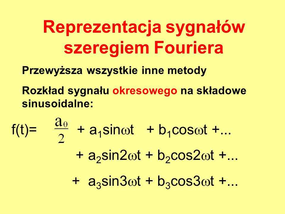 Reprezentacja sygnałów szeregiem Fouriera