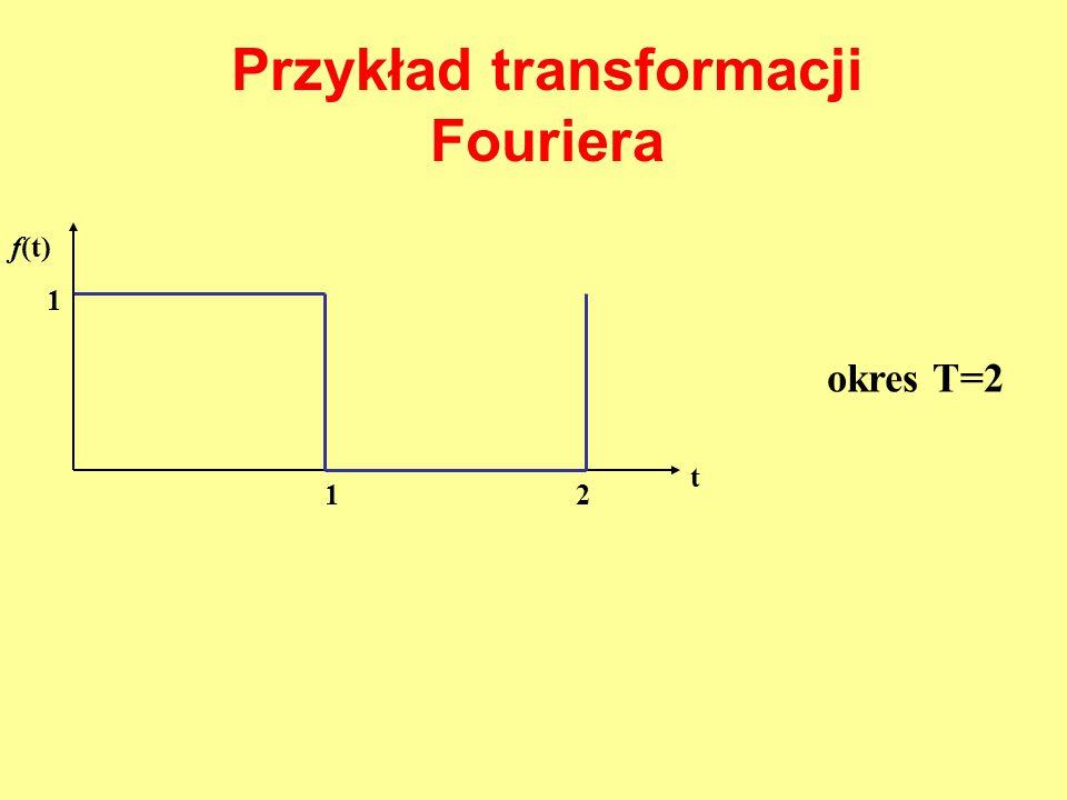 Przykład transformacji Fouriera