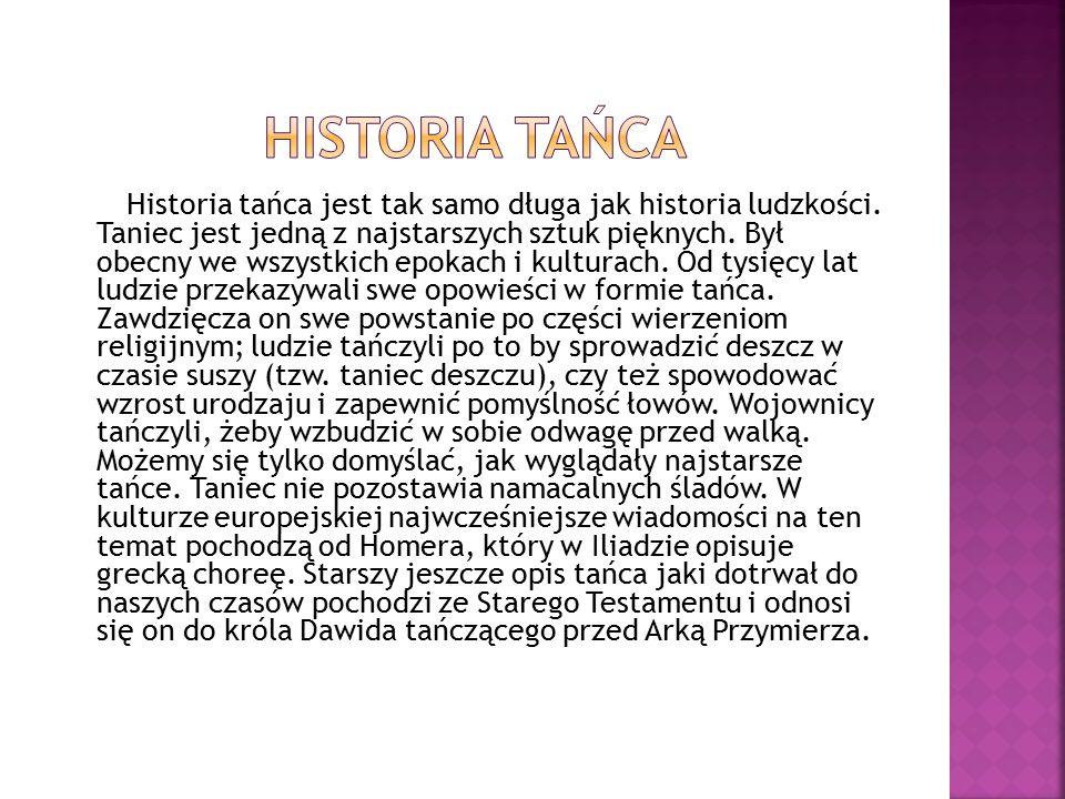 Historia tańca