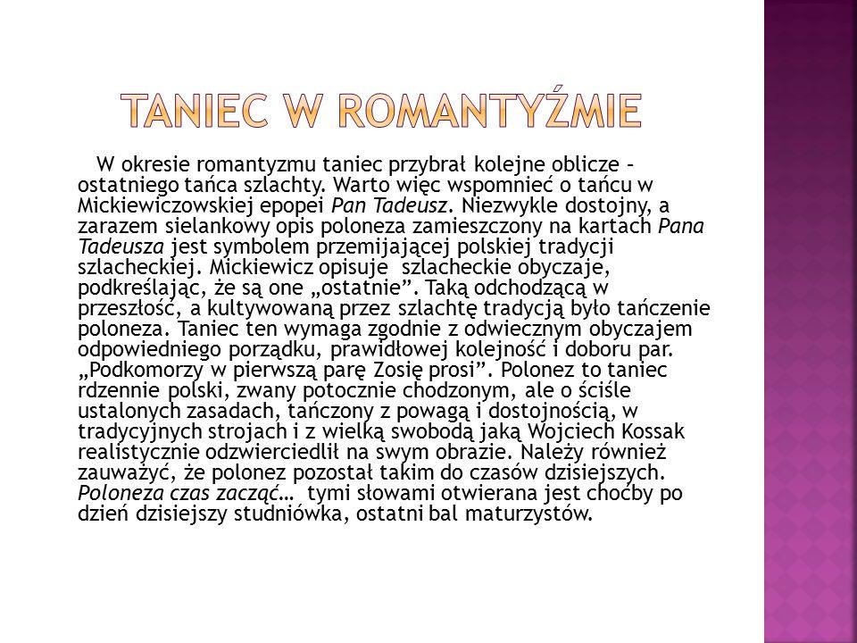 Taniec w romantyźmie