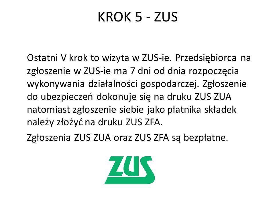 KROK 5 - ZUS