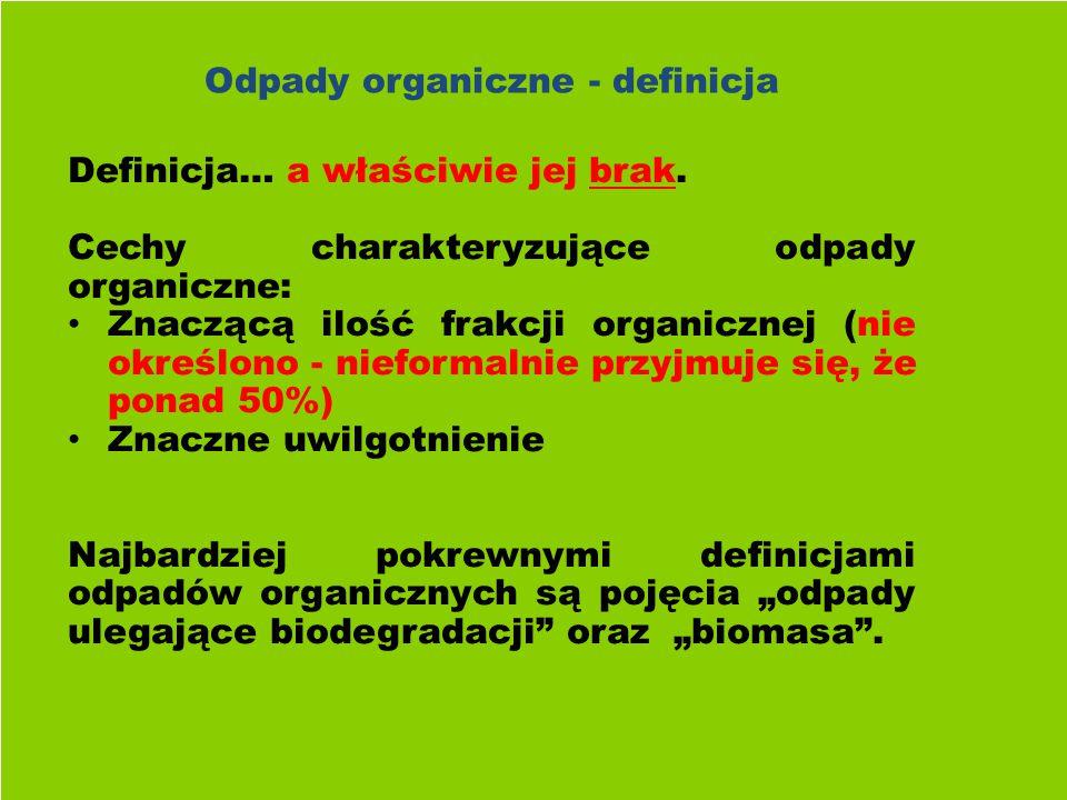 Odpady organiczne - definicja