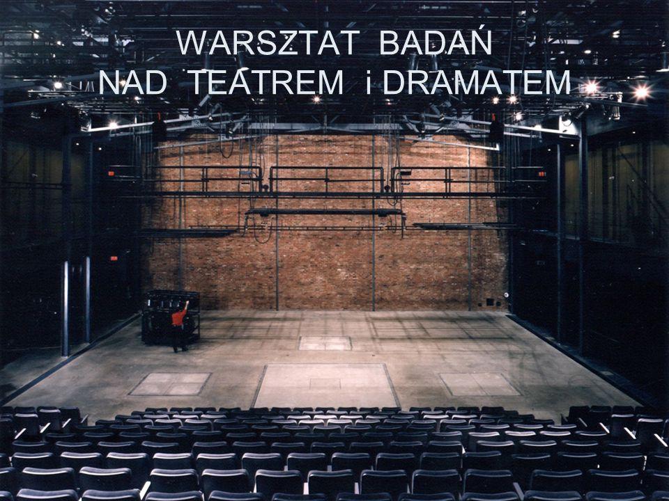 WARSZTAT BADAŃ NAD TEATREM i DRAMATEM