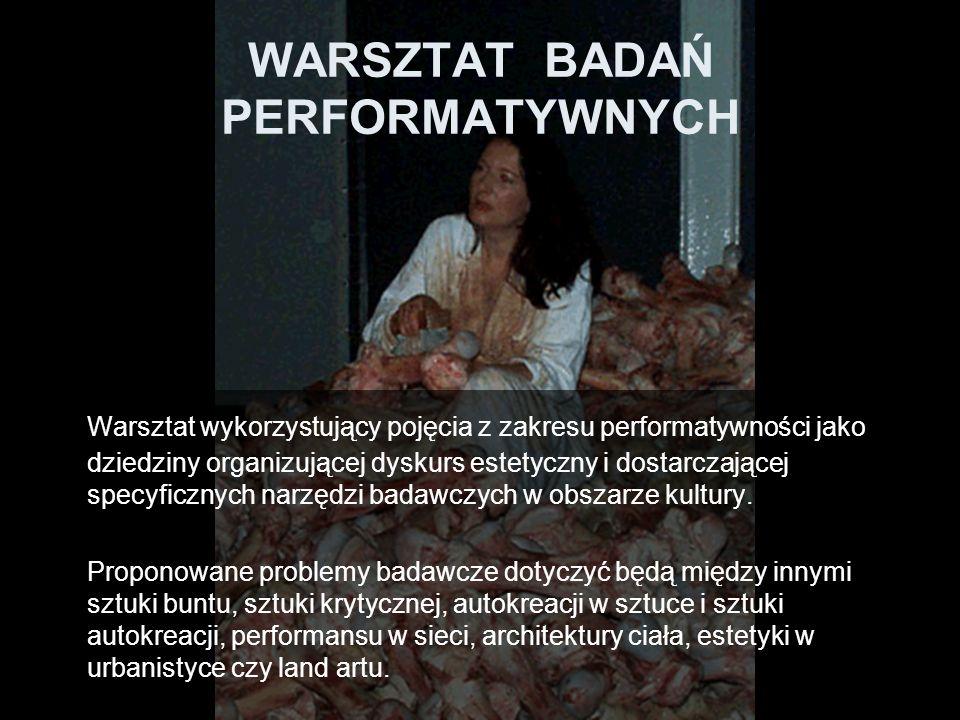 WARSZTAT BADAŃ PERFORMATYWNYCH