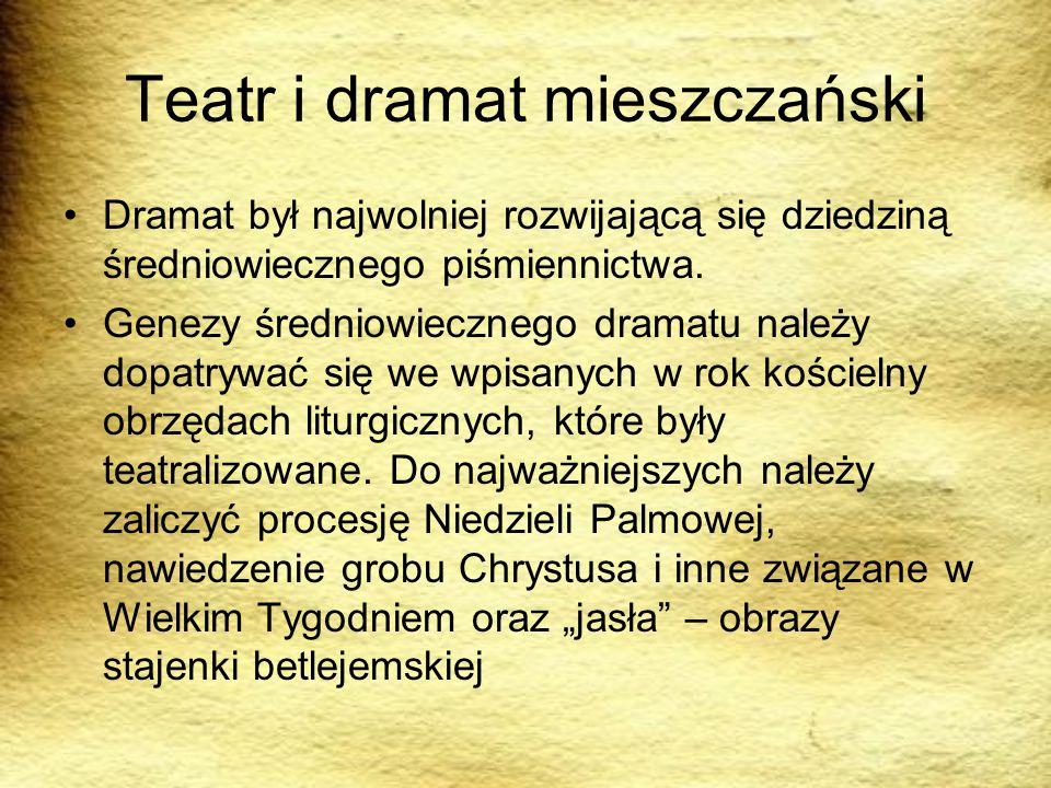 Teatr i dramat mieszczański