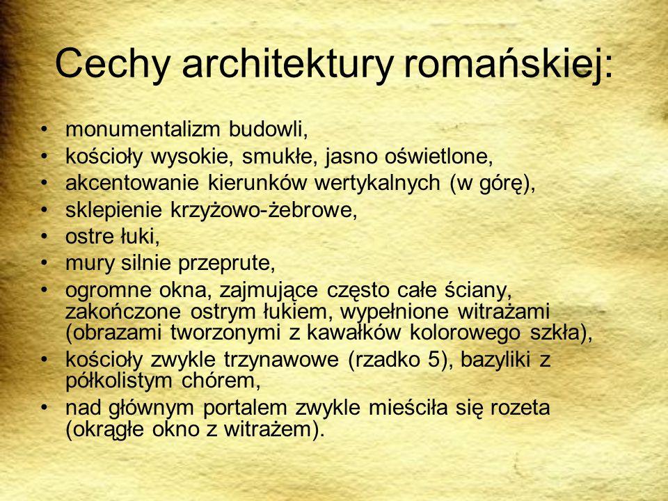 Cechy architektury romańskiej: