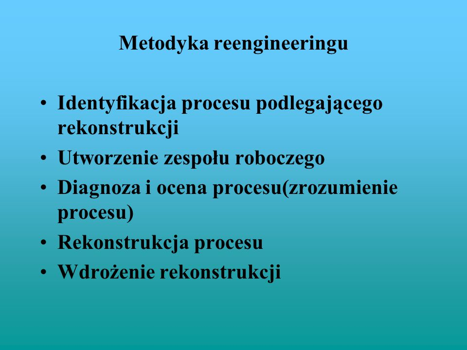 Metodyka reengineeringu