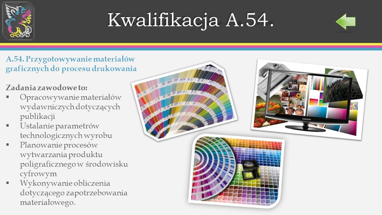 Kwalifikacja A.54. A.54. Przygotowywanie materiałów