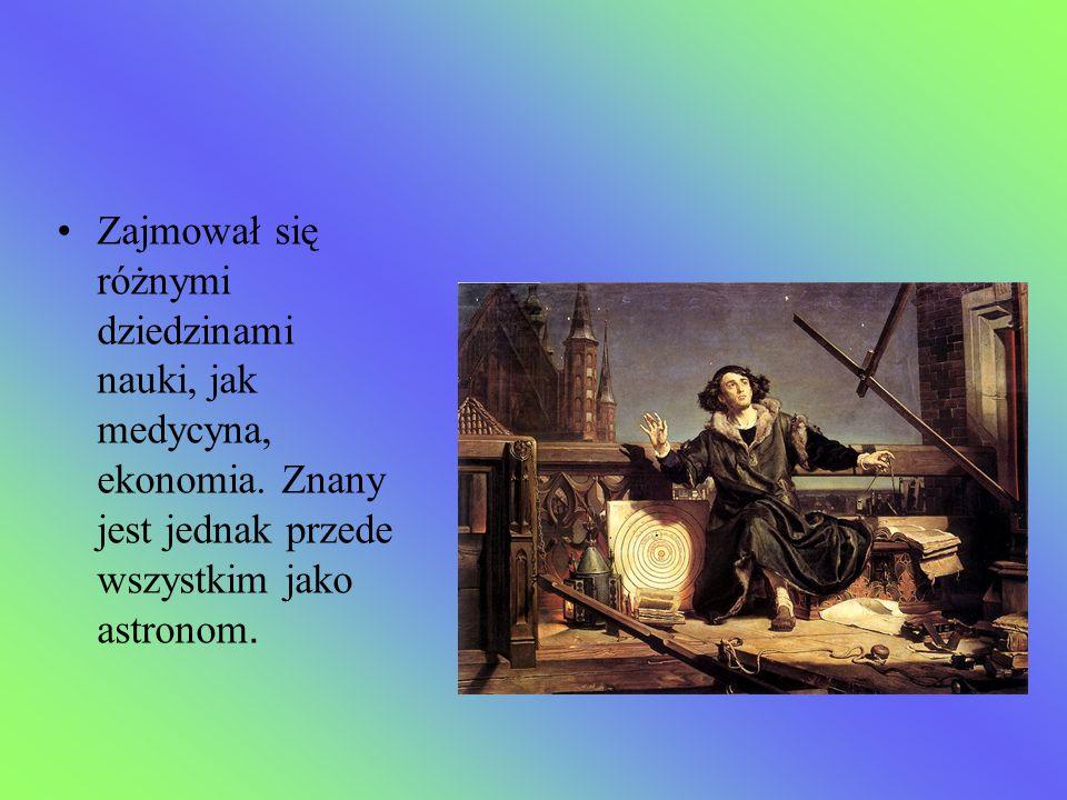 Zajmował się różnymi dziedzinami nauki, jak medycyna, ekonomia