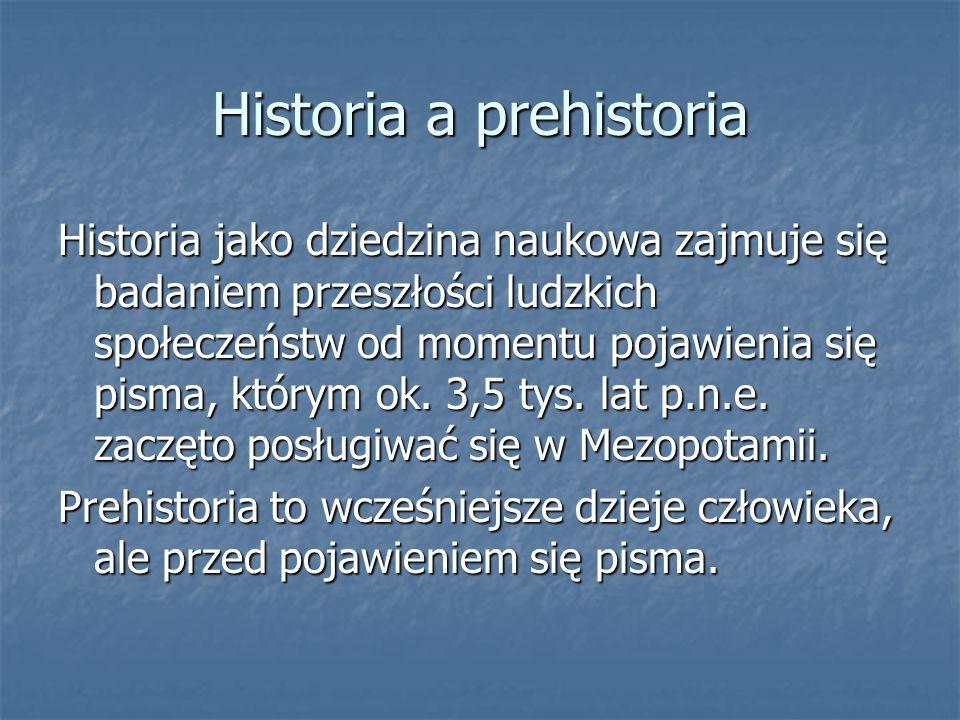Historia a prehistoria
