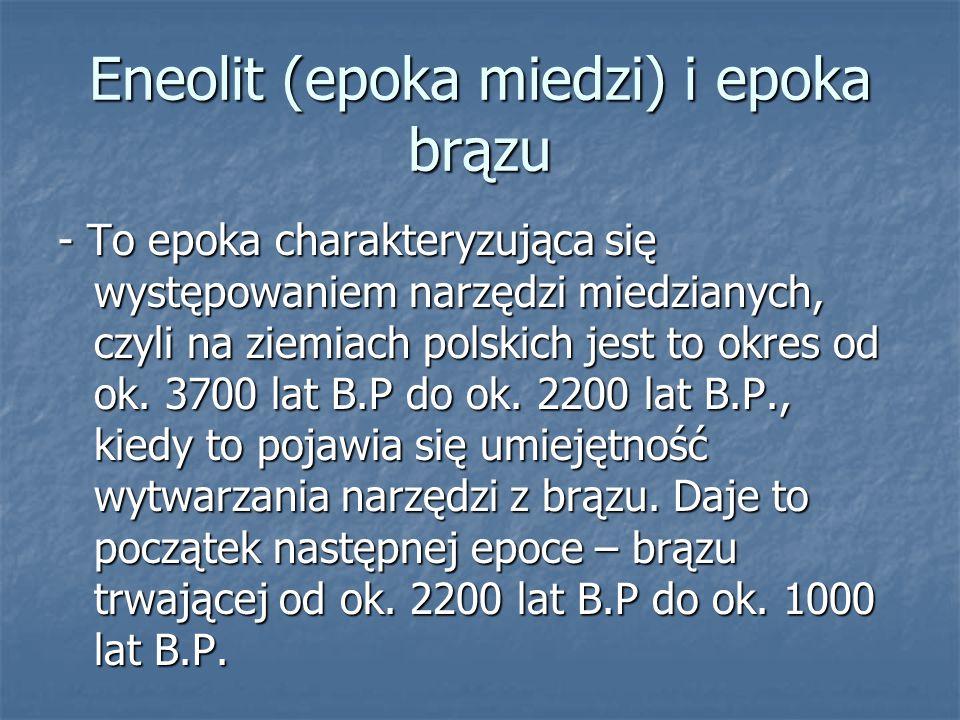 Eneolit (epoka miedzi) i epoka brązu