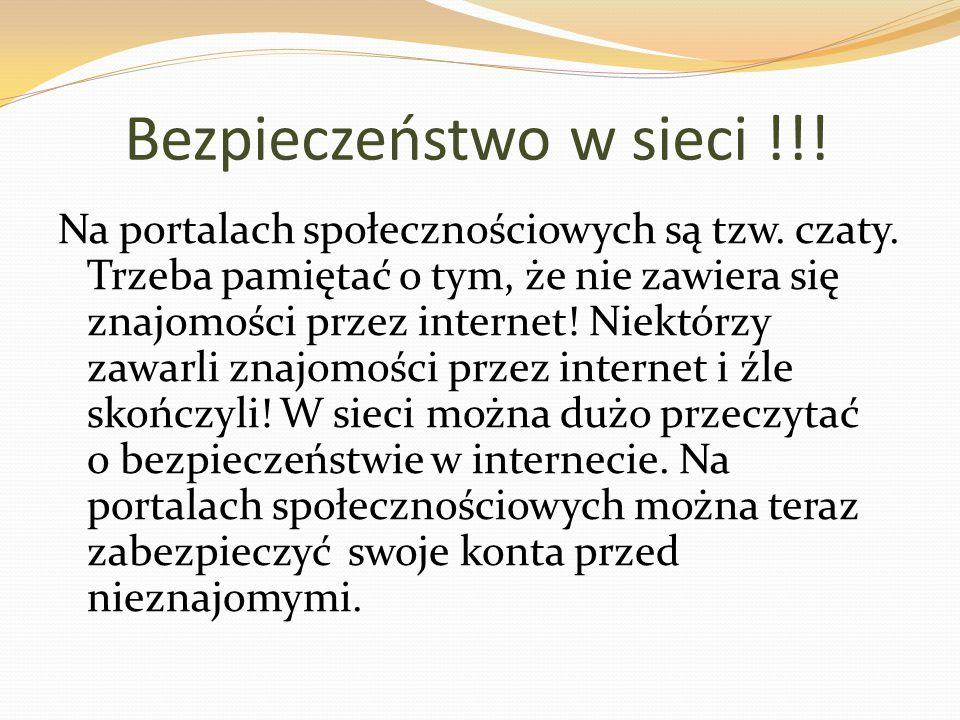 Bezpieczeństwo w sieci !!!