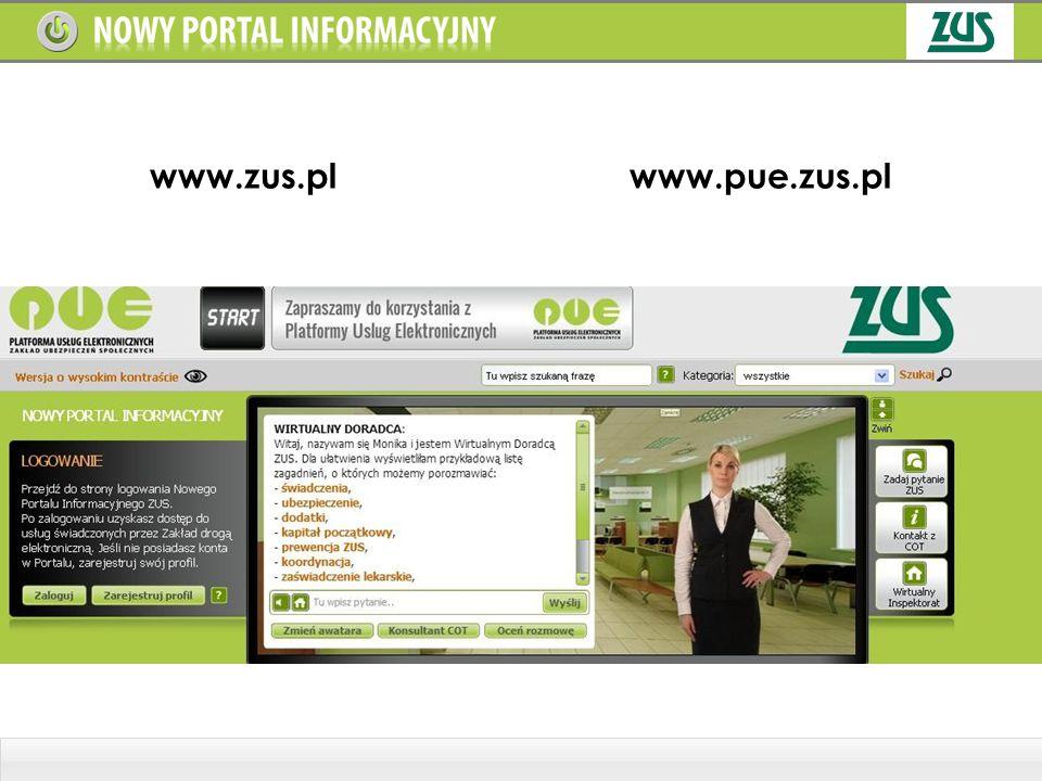 www.zus.pl www.pue.zus.pl