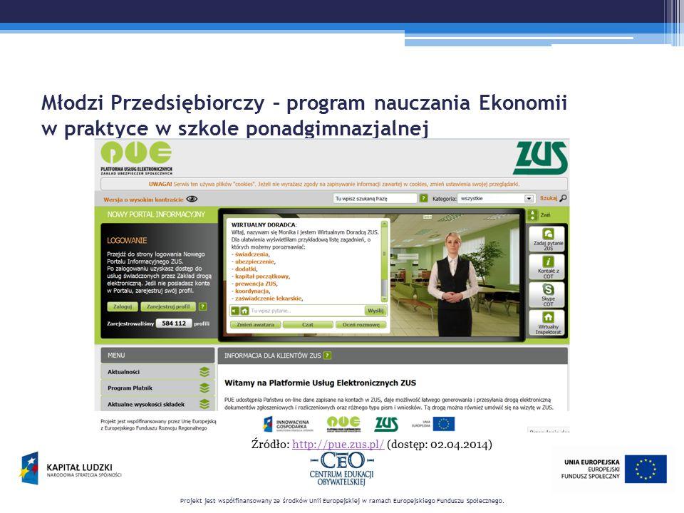 Źródło: http://pue.zus.pl/ (dostęp: 02.04.2014)