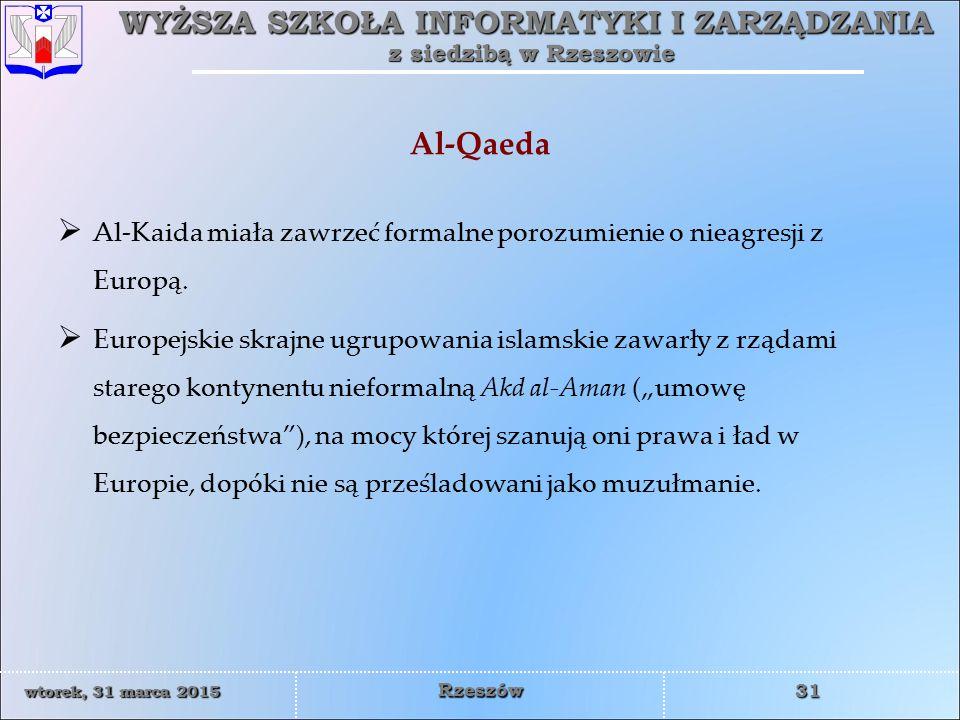 Al-Qaeda Al-Kaida miała zawrzeć formalne porozumienie o nieagresji z Europą.