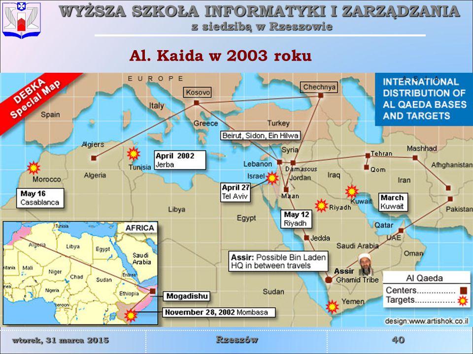 Al. Kaida w 2003 roku