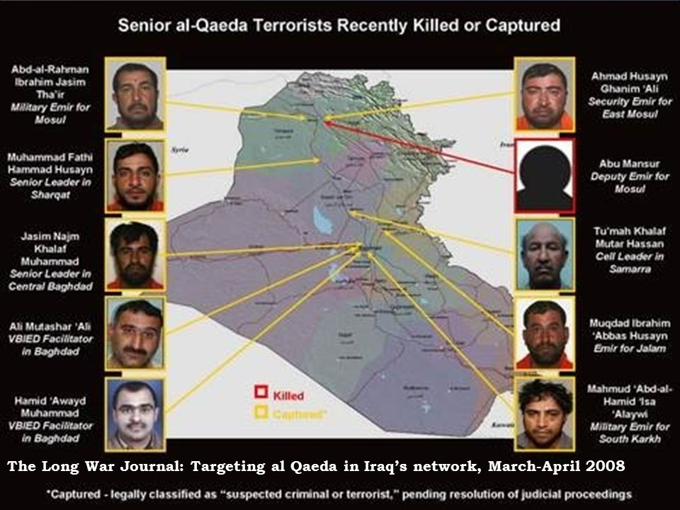 The Long War Journal: Targeting al Qaeda in Iraq's network, March-April 2008