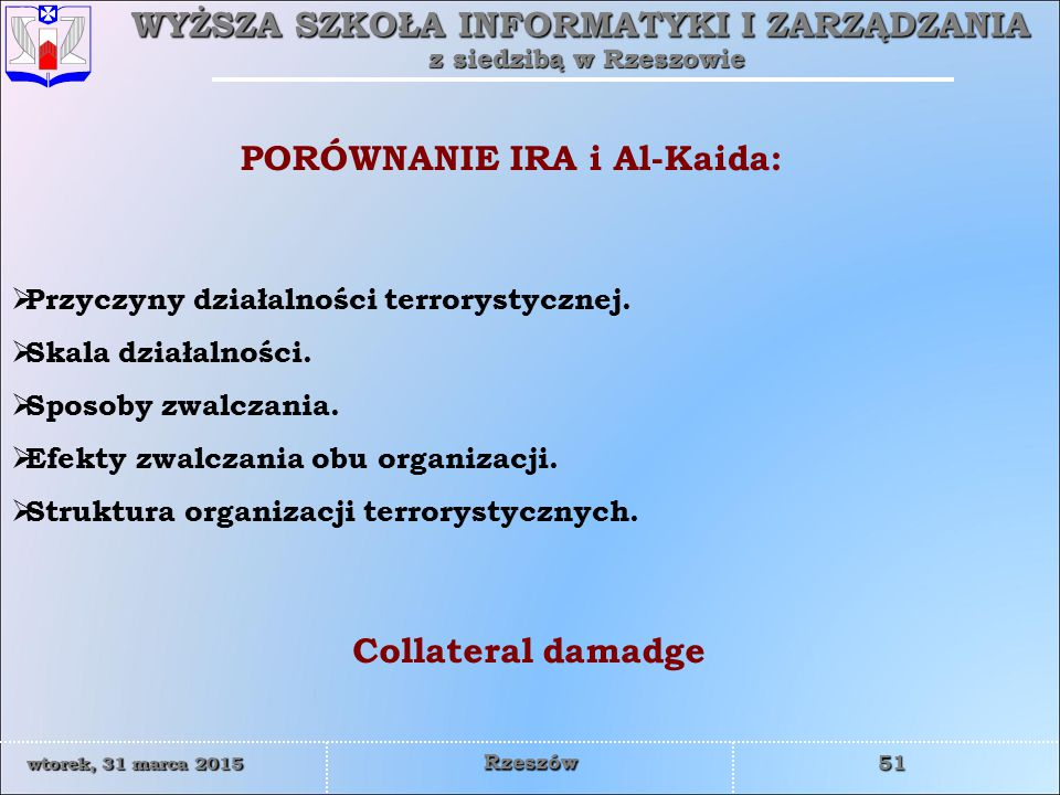 PORÓWNANIE IRA i Al-Kaida: