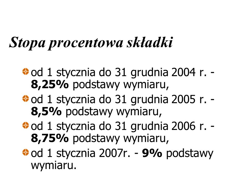 Stopa procentowa składki