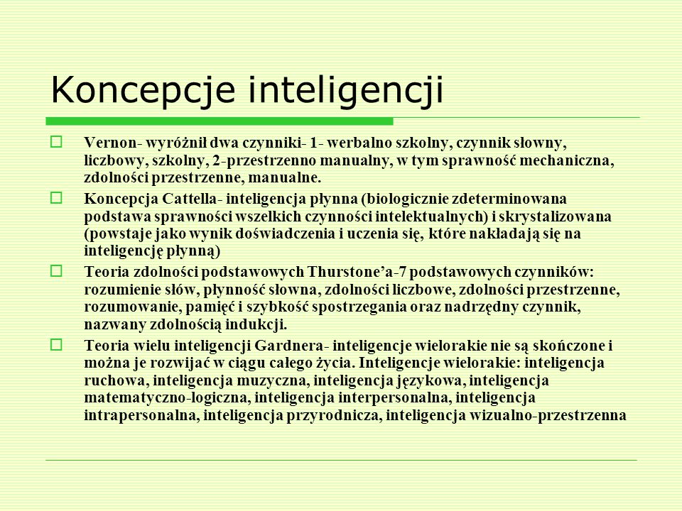 Koncepcje inteligencji