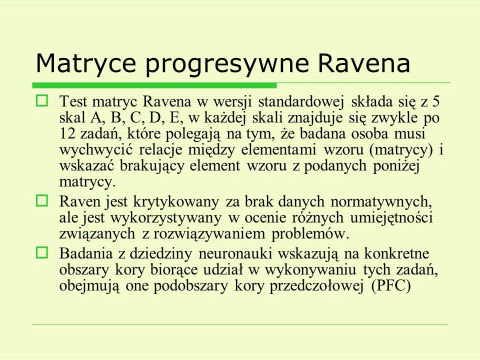 Matryce progresywne Ravena