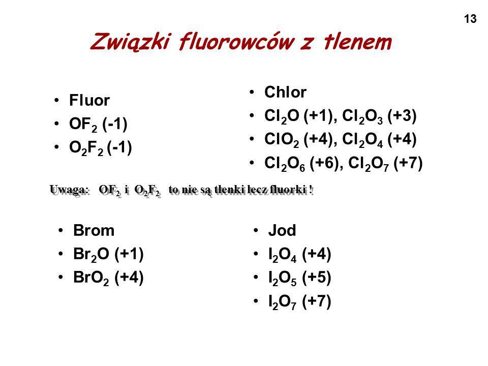 Związki fluorowców z tlenem