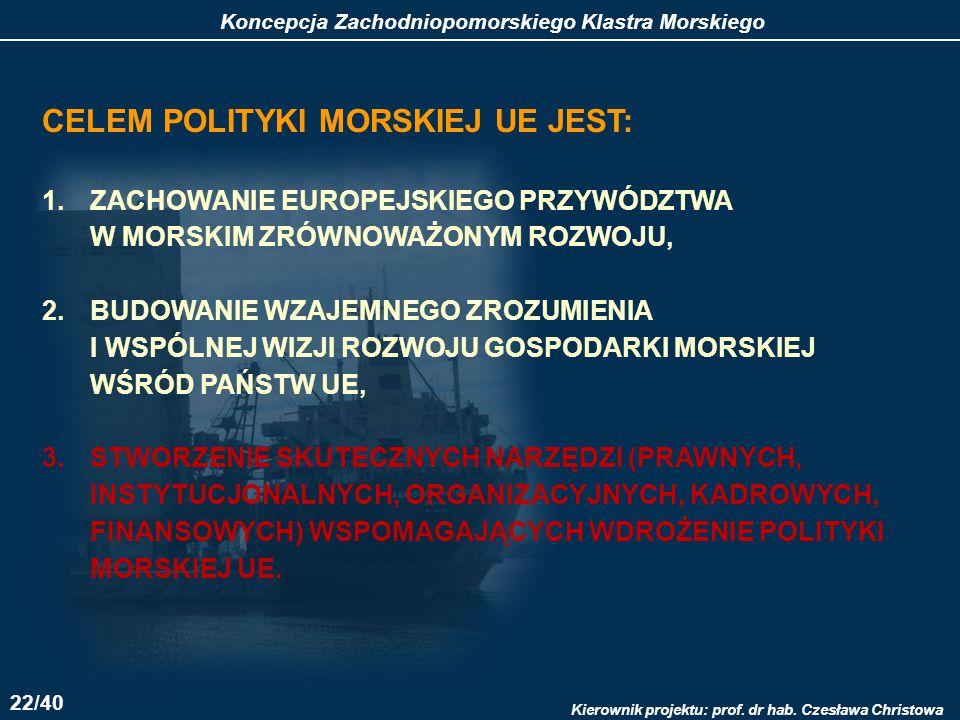 CELEM POLITYKI MORSKIEJ UE JEST: