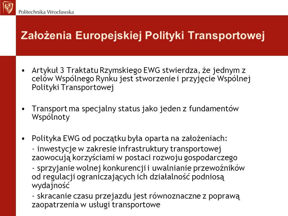 Założenia Europejskiej Polityki Transportowej