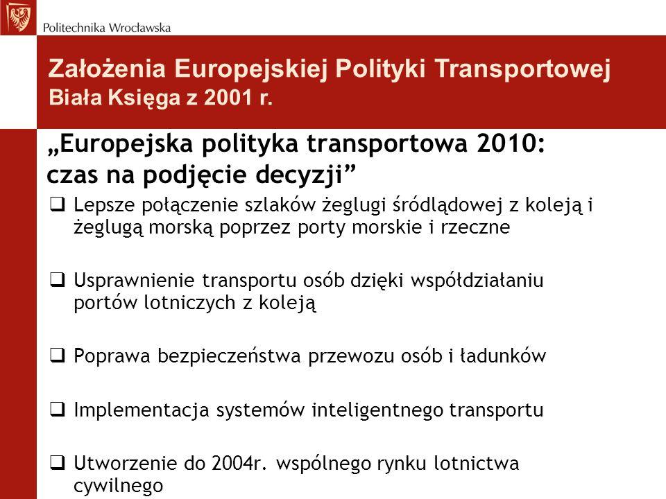 """""""Europejska polityka transportowa 2010: czas na podjęcie decyzji"""