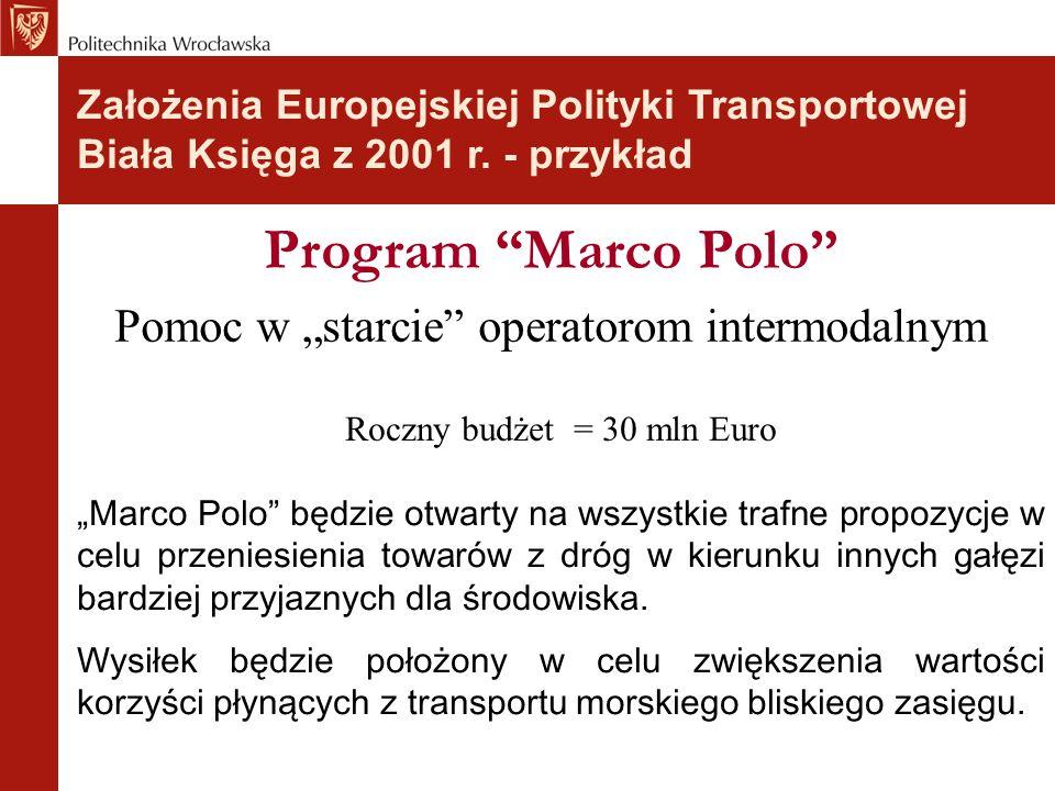 """Program Marco Polo Pomoc w """"starcie operatorom intermodalnym"""