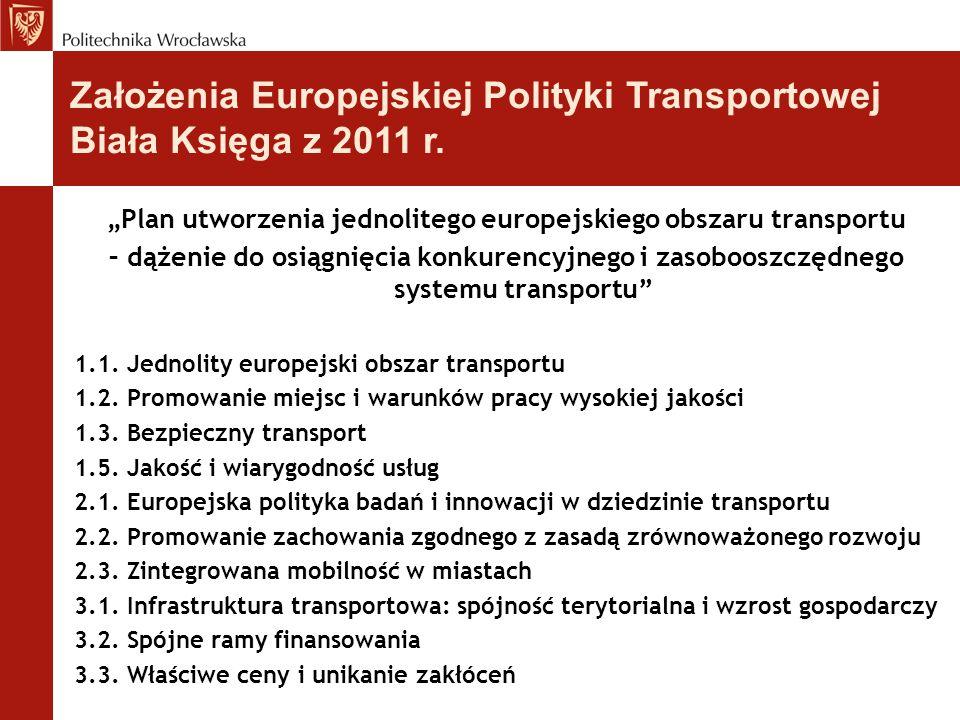 """""""Plan utworzenia jednolitego europejskiego obszaru transportu"""