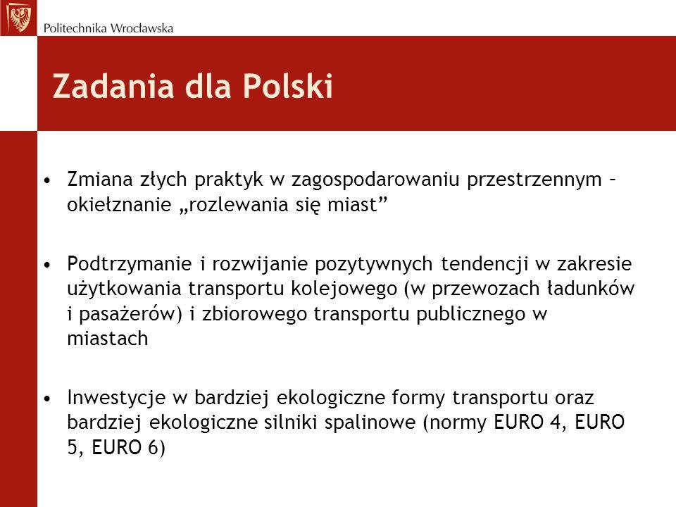 """Zadania dla Polski Zmiana złych praktyk w zagospodarowaniu przestrzennym – okiełznanie """"rozlewania się miast"""