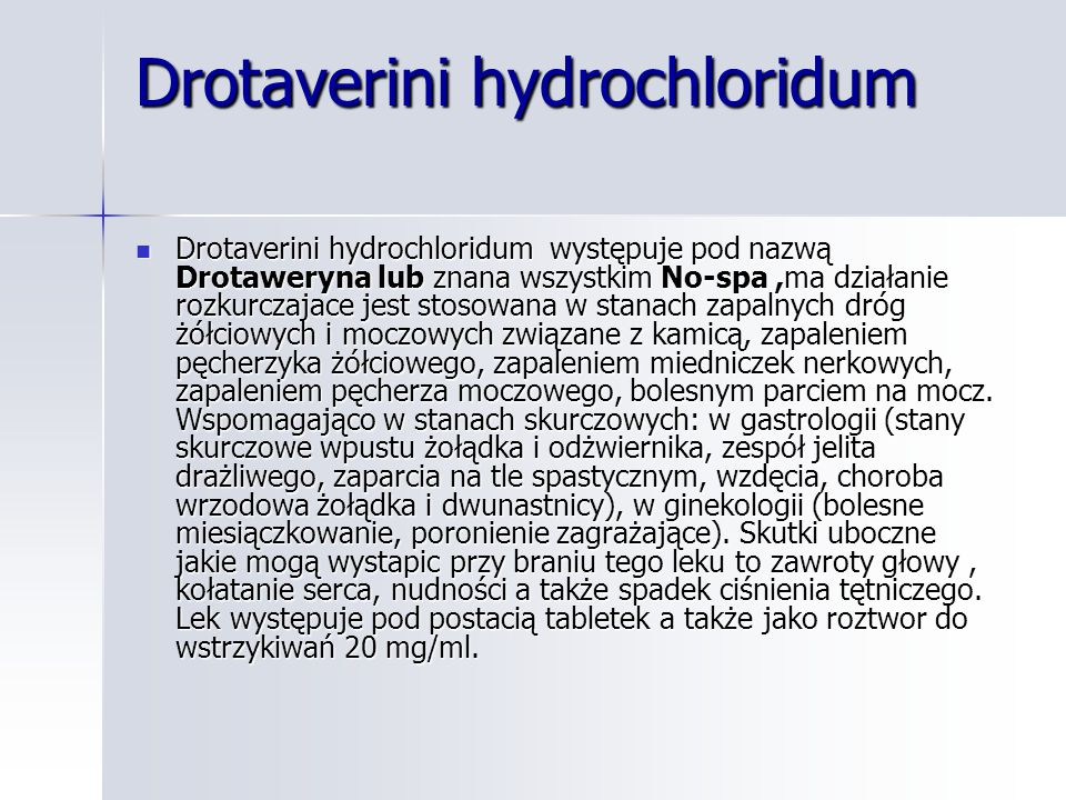 Drotaverini hydrochloridum