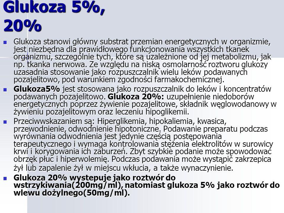 Glukoza 5%, 20%
