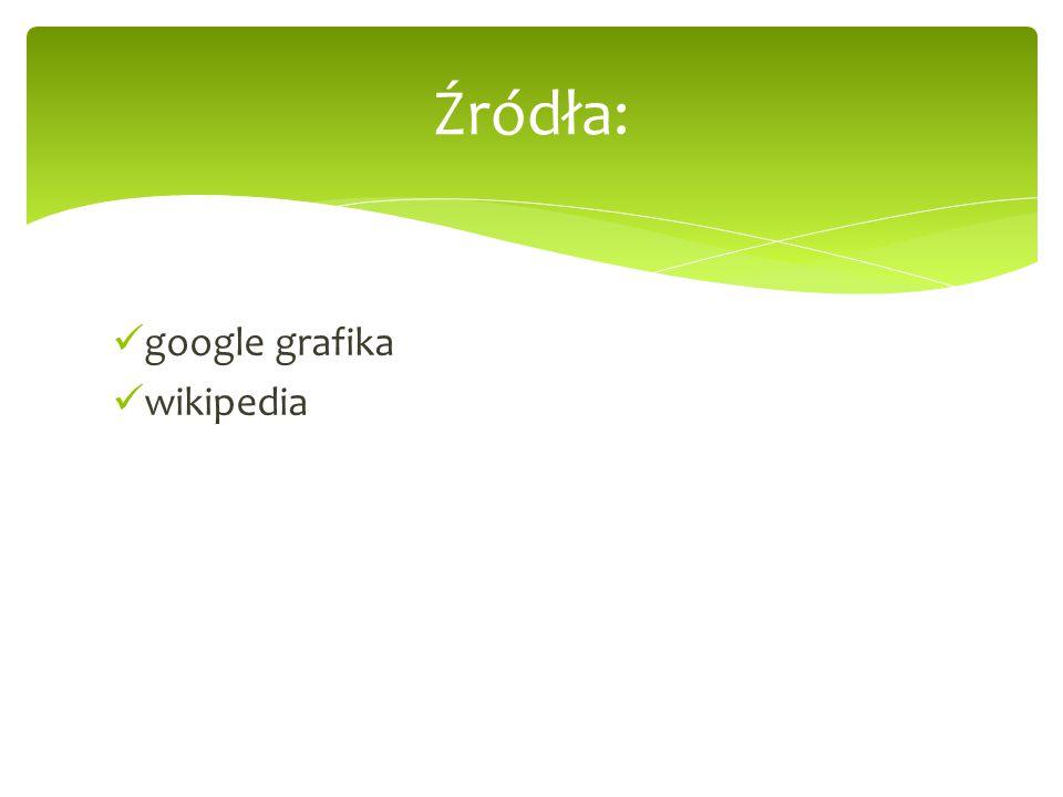 Źródła: google grafika wikipedia