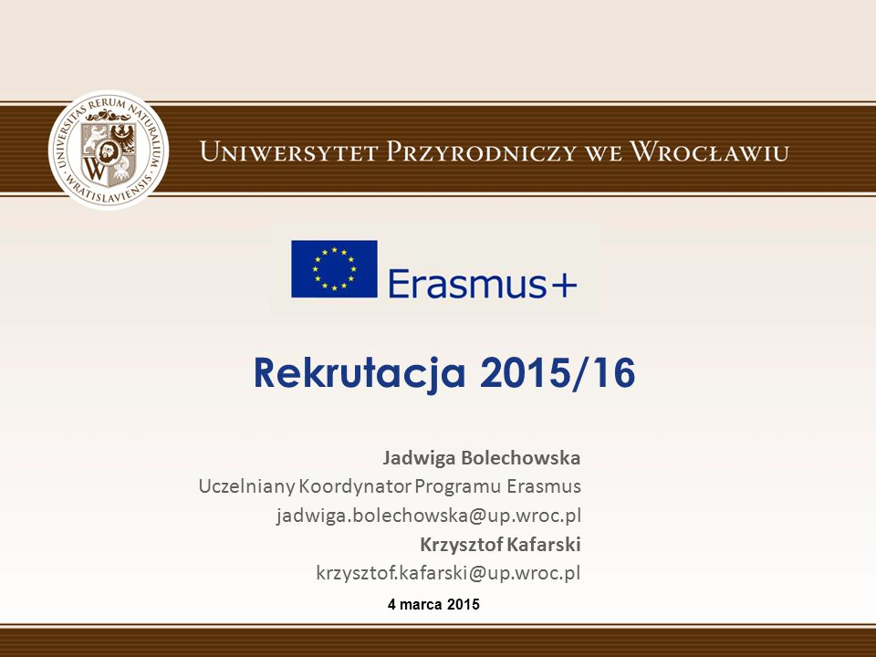Rekrutacja 2015/16 Jadwiga Bolechowska