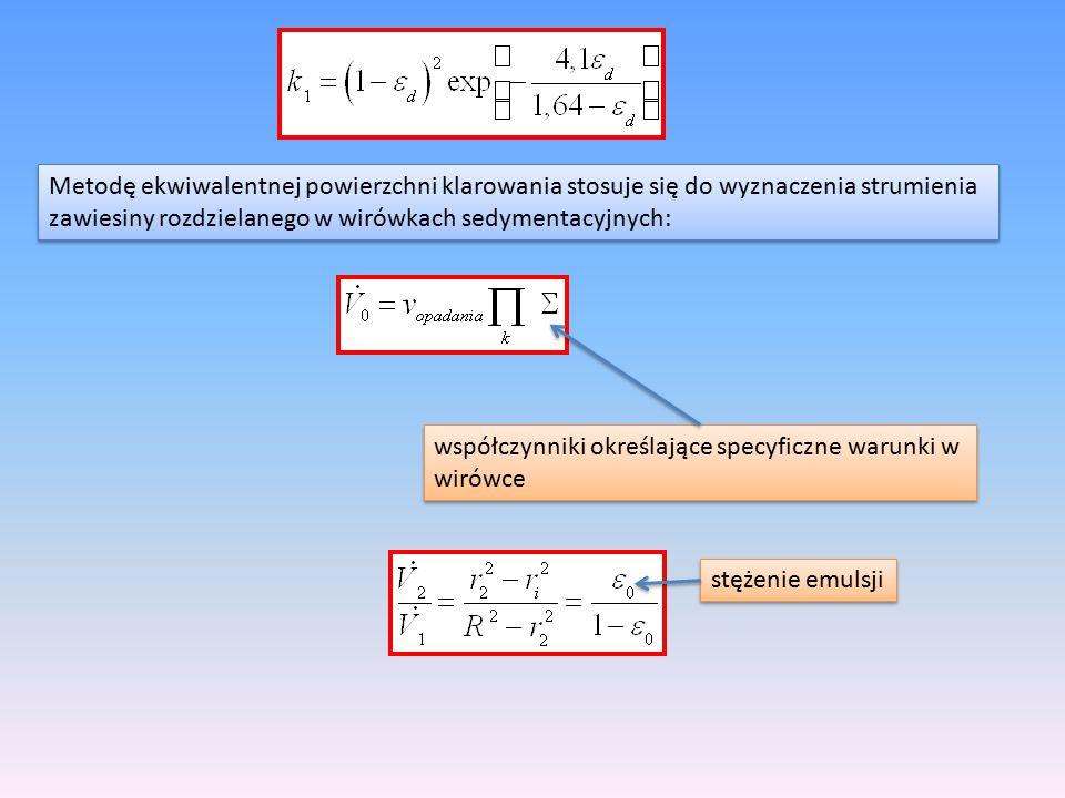 Metodę ekwiwalentnej powierzchni klarowania stosuje się do wyznaczenia strumienia