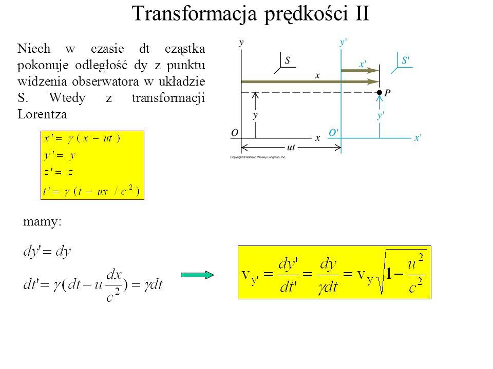 Transformacja prędkości II