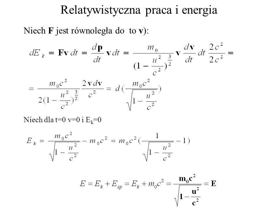 Relatywistyczna praca i energia