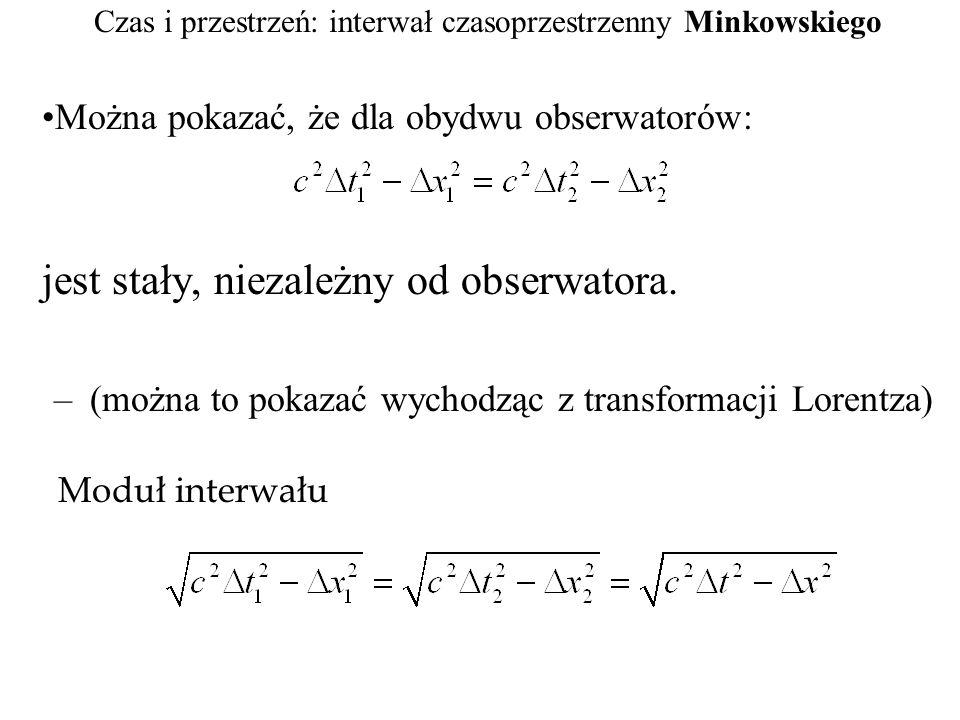 Czas i przestrzeń: interwał czasoprzestrzenny Minkowskiego