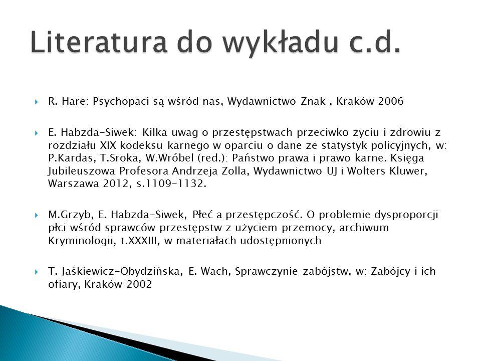Literatura do wykładu c.d.