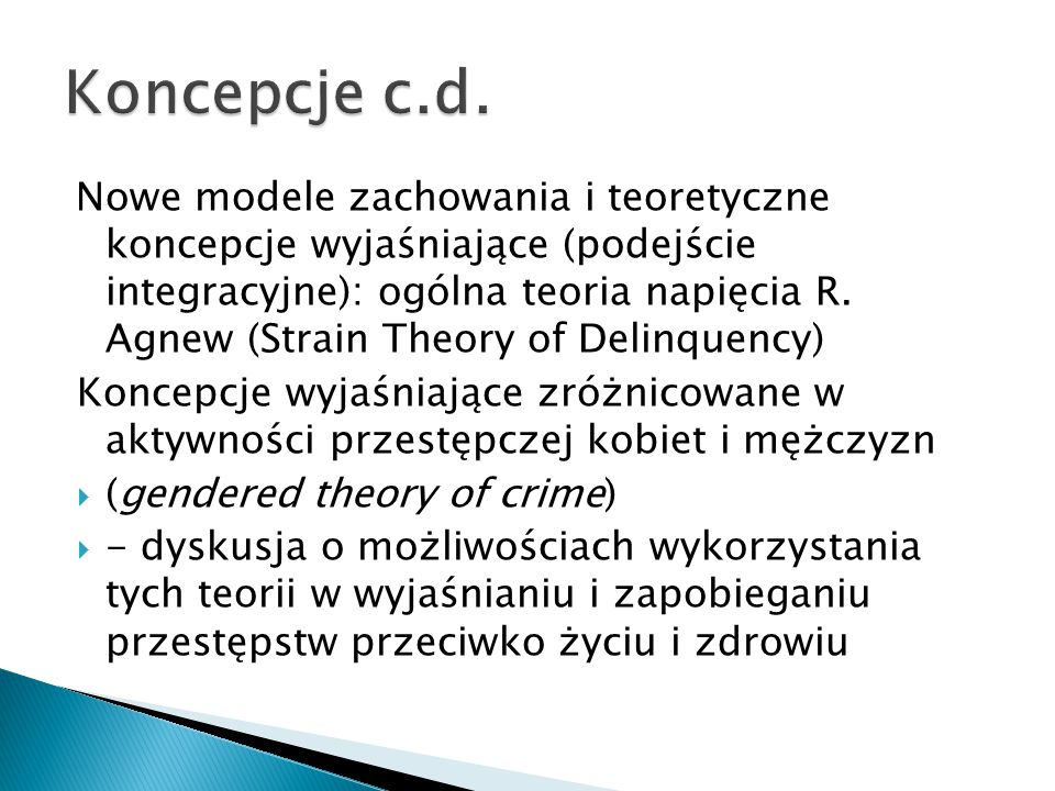 Koncepcje c.d.